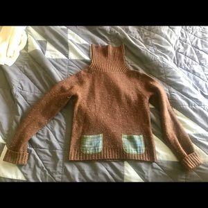 Brown Anthropologie turtleneck sweater - size M